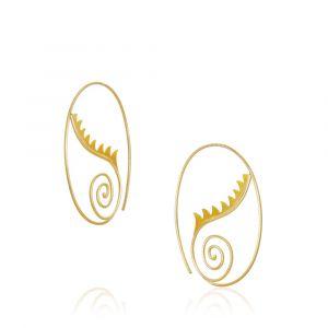 Dulong - Thera øreringe i 18 karat guld - Lille. De runde øreringes design er inspireret af havets konkylier og græske gudinder. THE1-A1030.