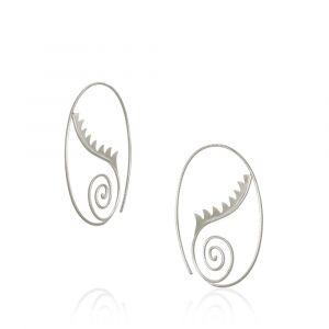 Dulong - Thera øreringe i sølv - Lille. De runde øreringes elegantedesign, er inspireret af havets konkylier og græske gudinder. THE1-F1030.