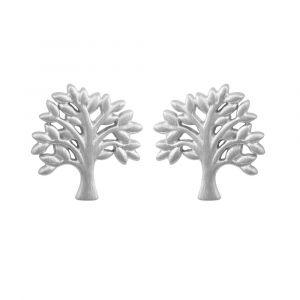 byBiehl Tree Of Life sølv ørestikker. Hver ørering er formet som et lille træ. 4-2502-R
