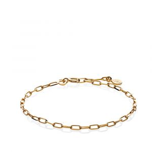 Sistie - Emma armbånd i forgyldt sølv, fremført i moderne kæde design. z3017gs