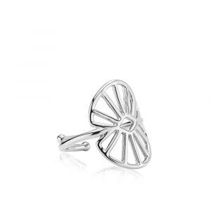 Sara by Sistie ring i rhodineret sølv (z4012swsM)