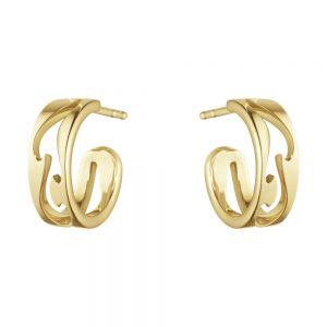 Georg Jensen - Fusion Åben øreringe i 18 karat guld. De fine creoler er designet af Nina Koppel. 10016436.