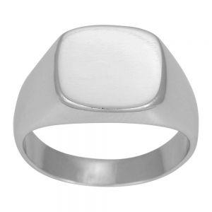 Nordahl Andersen SON  herre ring i blankt rhodineret sølv