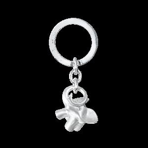 Ole Lynggaard - Elefant nøglering i sølvmed silkemat overflade. A3054-301.