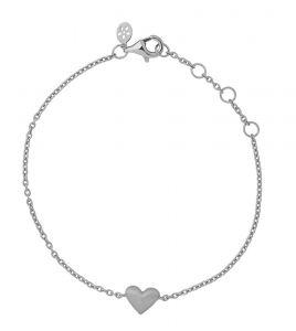 byBiehl Sweet Love sølv armbånd med hjerte, 2-1901-R