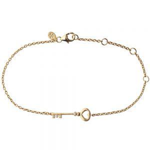 by Biehl Unlock Love armbånd i forgyldt sølv med zirkoner, 2-2601a-GP