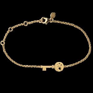 byBiehl Unlock Adventures armbånd i forgyldt sølv med zirkoner, 2-2603a-GP