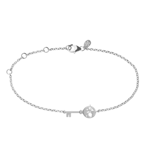 byBiehl Unlock Adventures sølv armbånd med zirkoner, 2-2603a-R