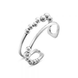 Georg Jensen - Moonlight Grapes armring i sølv.Den er designet til at give en illusion af to armringe,udsmykket med enkelte abstrakte vindrueklaser. 200006590.