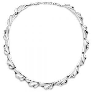 Mads Z - Velvet halskæde i sølv. Den består af en række af store led, designetmed organiske bløde former.2120088.
