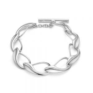 Mads Z - Winelink armbånd i sølv. Armbåndet er designet med en række af store led, fremstilleti smukke organiske former.2150016.