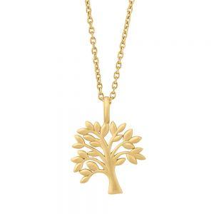 by Biehl Tree of Life forgyldt sølv halskæde, med vedhæng formet som et træ, 3-2501-GP-45