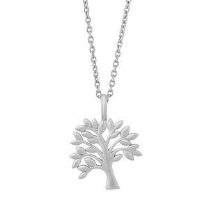byBiehl Tree of Life sølv halskæde, med vedhæng formet som et træ, 3-2501-R-45