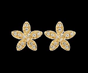 byBiehl Forget me not forgyldt sølv ørestikker formet som små blomster, 4-004a-GP