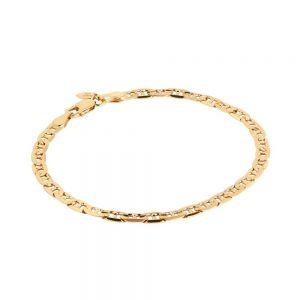 Maria Black - Carlo armbånd i blankpoleret forgyldt sølv. Det kan bæres alene, eller i kombination med andre armbånd. Længde: 17 cm. 400200.