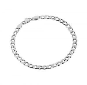 Maria Black - Forza armbånd i rhodineret sølv. Armbåndets kæde er designet med en blankpoleret overflade. Længde: 17 cm. 400237AG.