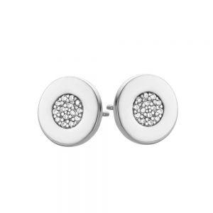 Spirit Icons - Gaia runde ørestikker i sølv med zirkonia, 40171