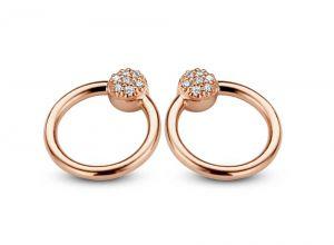 Spirit Icons - Perfection øreringe i rosaforgyldt sølv med zirkonia. 40714