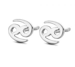 Cancer ørestikker i sølv med krebsens stjernetegn. De fine øreringe er fra Spirit Icons. 41051