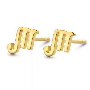 Spirit Icons Ørestikker i forgyldt sølv medskorpionens stjernetegn. Øreringene er designet med det kendte Scorpio symbol. 41092