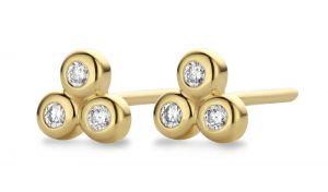 Spirit Icons - Triangle ørestikker i 14 karat guld. De elegante øreringe har hver 3brilliantslebne diamanter. 44236
