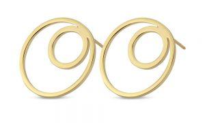 Spirit Icons - Lux ørestikker i 14 karat guld. De elegante øreringeer hver designet som en cirkel, med en mindrecirkel indeni. 44276.