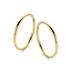 Spirit Icons - Imagine creoler i 14 karat guld - Small. De klassiske øreringe er designet med en blankpoleret overflade. Mål: 1,5 cm. 44406.