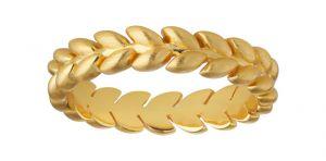 byBiehl - Season ring i forgyldt sølv. Ringen er designet som en elegant række af små blade. 5-3501-GP.