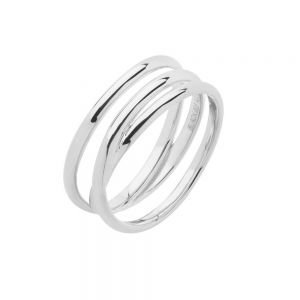 Maria Black - Emilie Wrap ring i blankpoleret sølv. Ringen er designet til at give en illusion af tre ringe. 500350. Køb hos Guldsmed Boye.