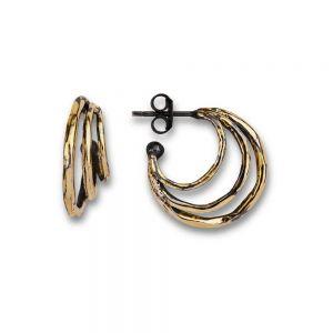 By Birdie - Highclere Ø20 øreringe fremstillet i925 sterling sølv, belagt med 18 karat guld. 50811386A.