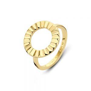 Spirit Icons - Peak ring i forgyldt sølv. Ringen er designet som en åben cirkel, med en blankpoleret overflade i bølgende former. 51172.