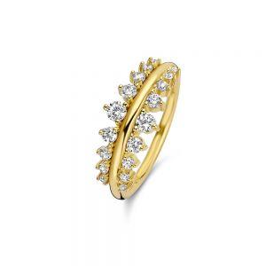 Spirit Icons - Empress ring i forgyldt sølv med zirkonia, 51192