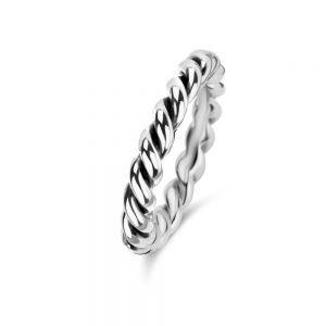 Spirit Icons - Hula - snoet ring i sort ruthineret sølv, 51243