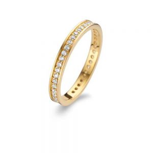 Spirit Icons - Chic ring i forgyldt sølv med en smal række zirkonia, 53072
