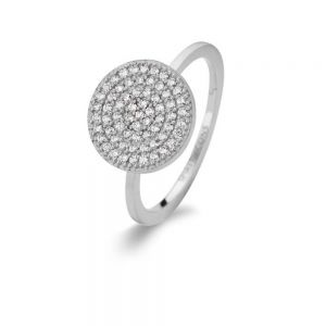 Spirit Icons - Energy ring i sølv med zirkonia. Den runde top er paveret med små klare zirkonia. 53081
