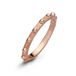 Spirit Icons - Spike ring i rosaforgyldt sølv. Ringen er designet med en matteret overflade, og små blanke kugler langs toppen. 53334