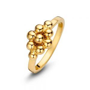 Spirit Icons - Cocoon ring i forgyldt sølv. Den elegante ring er designet med en gruppering af små blanke kugler. 53372