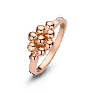 Spirit Icons - Cocoon ring i blankpoleret rosaforgyldt sølv. Ringen er designet med en elegant gruppering af små kugler. 53374