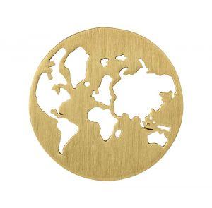 byBiehl Beautiful World vedhæng i forgyldt sølv, med verdenskort, 7-1601-GP