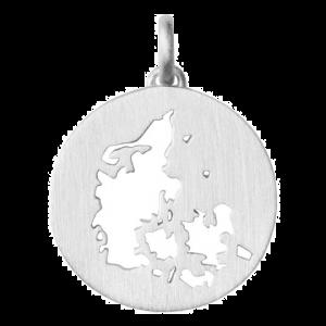 byBiehl Beautiful Denmark sølv vedhæng, med danmarkskort, 7-1610a-R