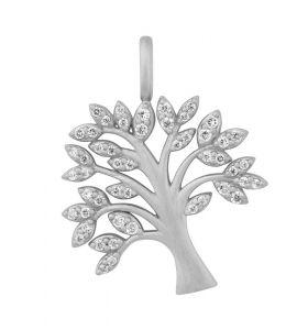 byBiehl Tree of Life Sparkle sølv vedhæng med zirkonia, 7-2502a-R - Livets træ