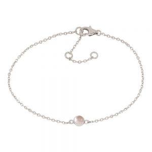 Nordahl Andersen Sweets armbånd i rhodineret sølv med rosakvarts