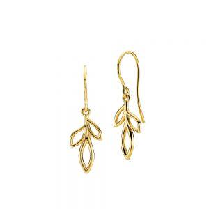 Izabel Camille - Dreamy øreringe i forgyldt sølv. De er designet som små blade, fremstillet i 18 karat guldbelagt sterlingsølv. Mål: 11 x 32 mm.a1675gs