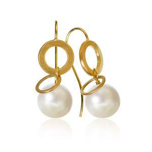 Dulong Anello Pearl øreringe i 18 karat guld med ferskvandsperler