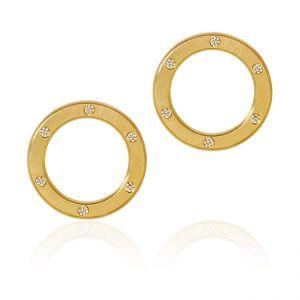Dulong Anello øreringe i 18 karat guld med brillanter