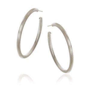 Esme store sølv øreringe fra Dulong