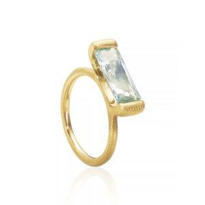 Dulong Future ring i 18 karat guld med beryl