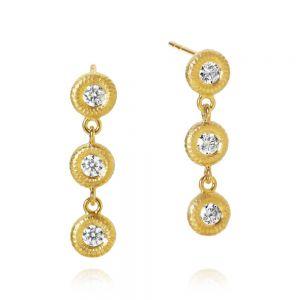 Dulong Glory øreringe i 18 karat guld med diamanter,  GLY1-A3050