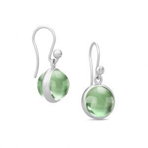 Julie Sandlau - Prime sølvøreringe medgrønne krystaller. HKS181RHGRATCRCZ