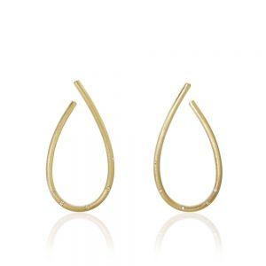 Dulong Kharisma Stor øreringe i 18 karat guld med diamanter